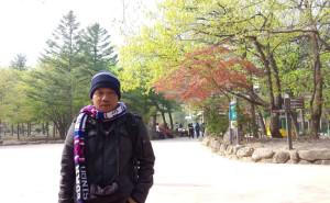 Saiful Arif Menikmati Liburannya di Korea